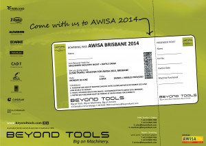 BT MACHINERY AWISA RAFFLE TICKET